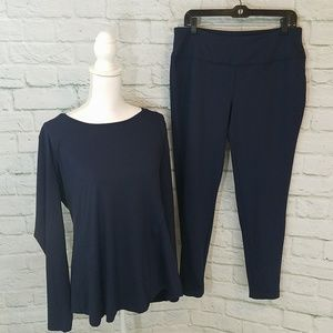 Cato Active NWT Navy Shirt W/ Strap Detail